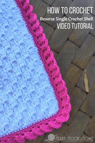 Reverse Shell Blanket Border Crochet by Heart Hook Home