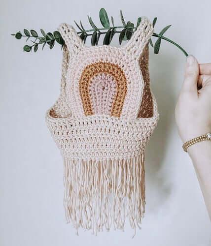 Rustic Rainbow Boho Vest Crochet Pattern by Knot Mama Made
