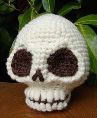 13. Sweet Little Skull Amigurumi Pattern by Voodoo Maggie Studios
