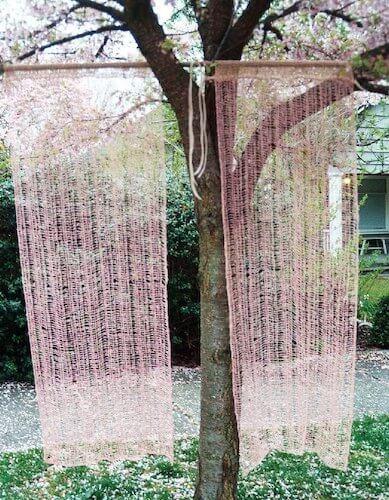 Tunisian Crochet Lace Curtain Pattern by Denise Voie de Vie