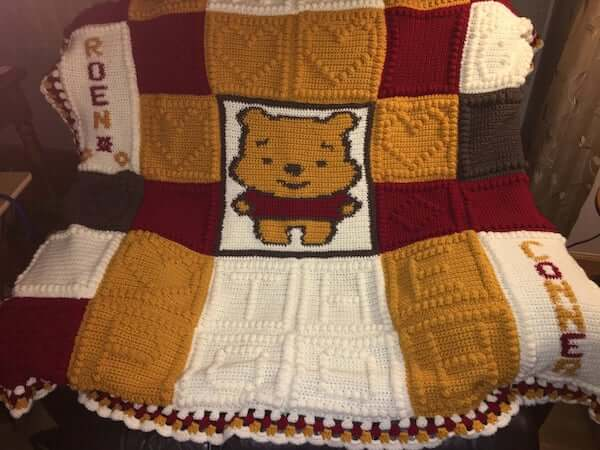 Winnie The Pooh Afghan Crochet Pattern by My Mommy Designs