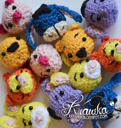 Winnie The Pooh And Friends Minis Crochet Pattern by Krawka