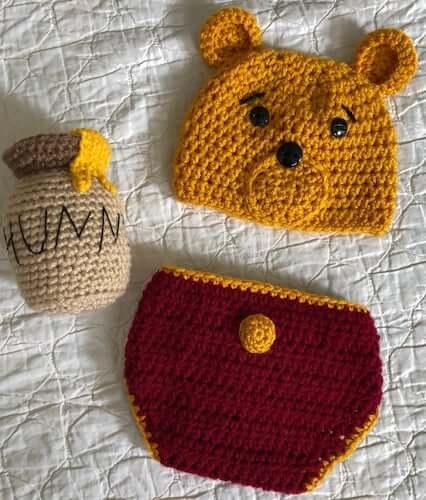 Newborn Set Winnie The Pooh Crochet Pattern by It's So Crochet Shop