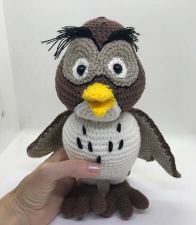 Wise Old Owl Crochet Pattern by Kate And Mom Shop