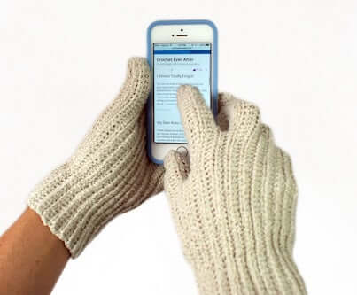 3. Women's Textable Gloves Crochet Pattern by Knit And Crochet Ever After