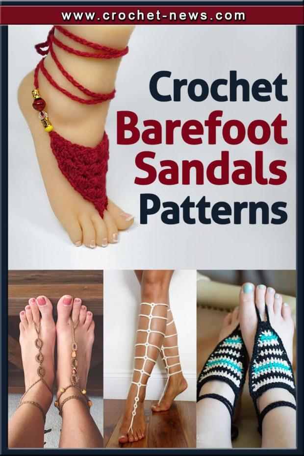 CROCHET BAREFOOT SANDALS PATTERNS