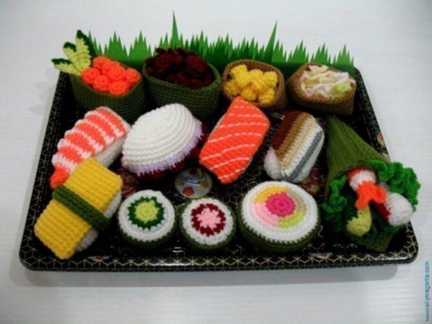 Amigurumi Sushi Play Foods Set Pattern by Skymagenta