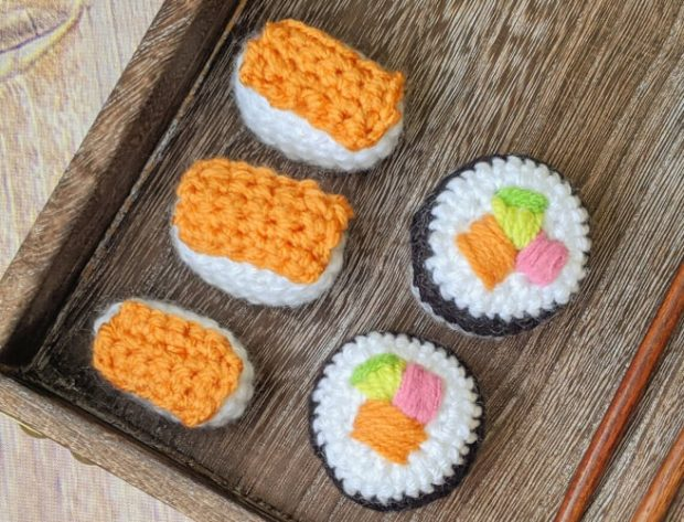 Amigurumi Sushi Set Pattern by Little World Of Whimsy