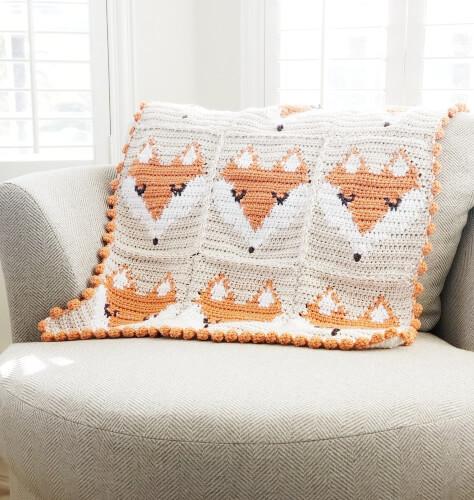 Baby Blanket Fox Crochet Pattern by CozyNorthWoods