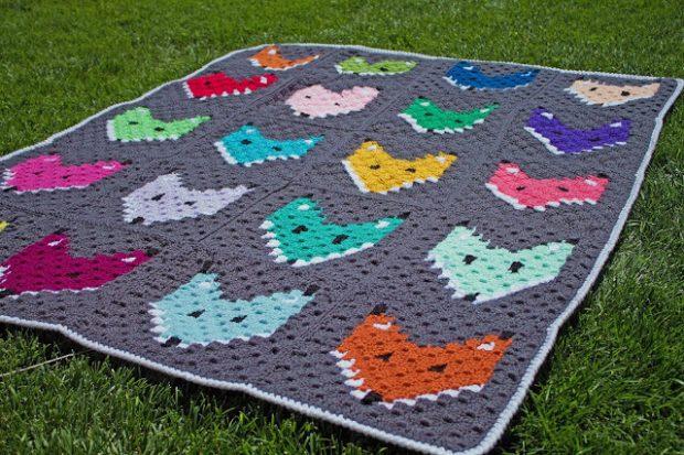 C2C Crochet Fox Blanket Pattern