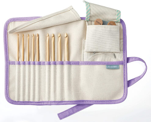 Clover Takumi Bamboo Interchangeable Tunisian Crochet Hook Set