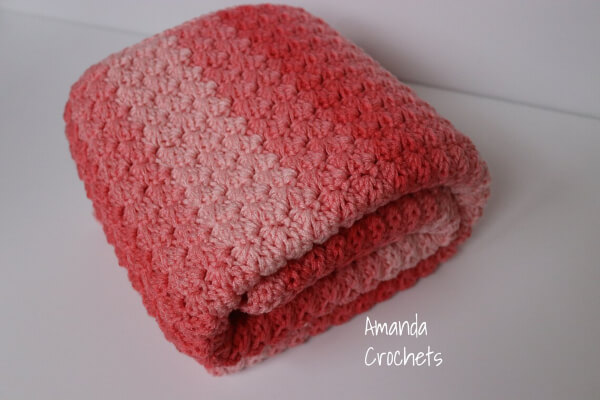 Crochet Baby Blanket Pattern by Amanda Crochets