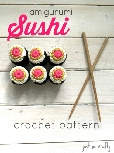 Crochet Sushi Pattern by Just Be Crafty Shop