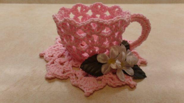 Crochet Tea Cup And Saucer Pattern by BagoDayCrochet