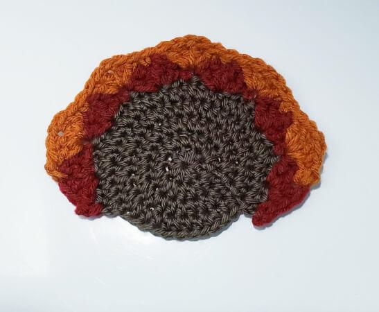 Crochet Turkey Coaster Pattern by Needle Klankers