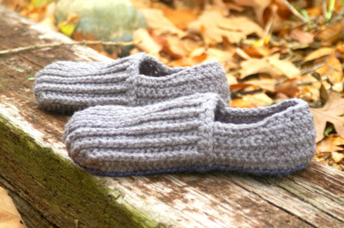 House Shoes the Lazy Day Men Crochet Loafers Pattern by Two Girls Pattern