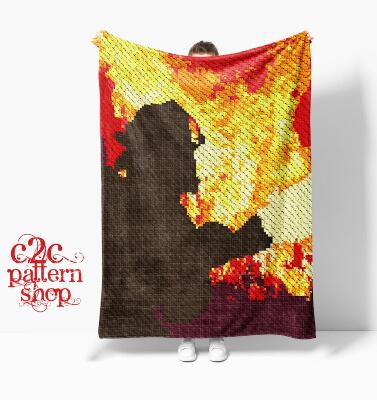 Mini C2C Fire Fighter Crochet Pattern by C2CPatternShop