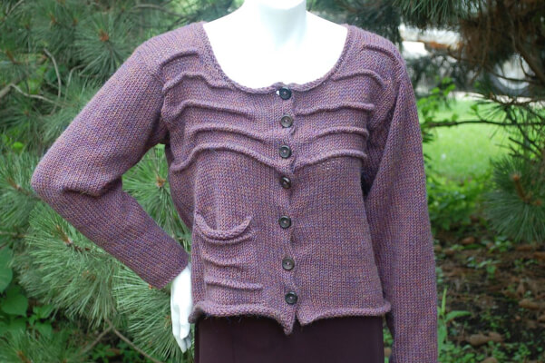 Pleated Crochet Cardigan Pattern by OlioKnits
