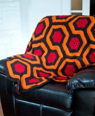 The Shining Crochet Fire Blanket from Kraftling