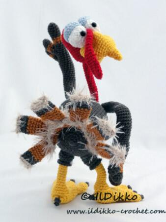 Theo the Turkey Amigurumi Crochet Pattern by IlDikko