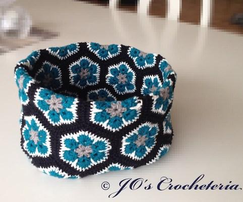 African Flower Bowl Crochet Pattern by Jo's Crocheteria