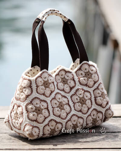 African Flower Purse Crochet Pattern by Craft Passion