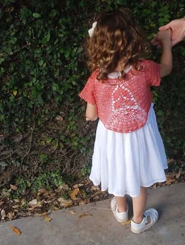 Blossom Crochet Bolero Pattern by Moara Crochet