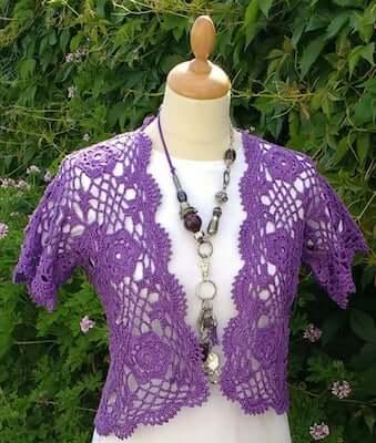 Bolero Crochet Pattern by Designed By Sonya