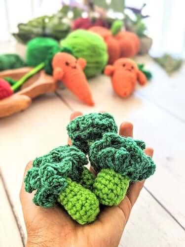 Broccoli Vegetable Crochet Pattern by Asmi Handmade