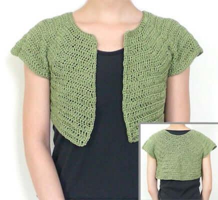 Classic Bolero Crochet Pattern by Crochet Spot Patterns