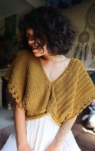 Crochet Boho Bolero Pattern by Maya Luna Corazon