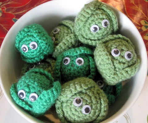 Crochet Brussel Sprouts Pattern by Made Out Of Things