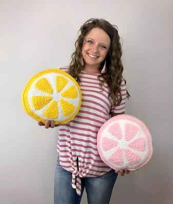 Crochet Citrus Pillow Pattern by A Crafty Concept