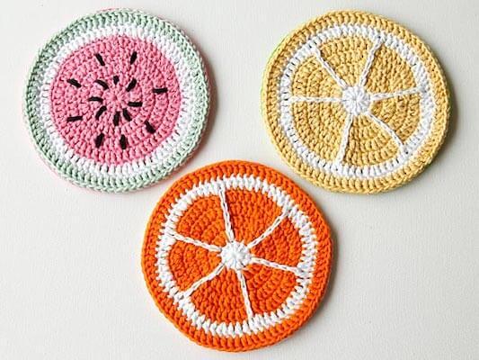 Crochet Tutti Frutti Potholders Pattern by Wink