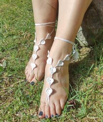 Easy Barefoot Sandals Crochet Pattern by Northern Lights Trail