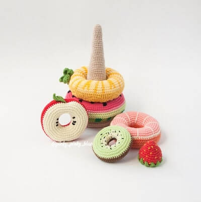 Fruit Stacking Toy Crochet Pattern by Pinky Pinky Blue