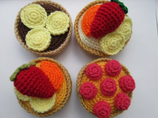 Fruit Tart Crochet Pattern by Addie's Knitted Gifts