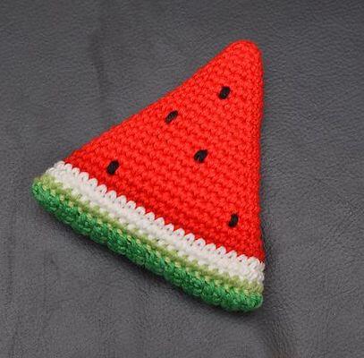 Watermelon Wedge Crochet Pattern by Chi-Sze Ooi
