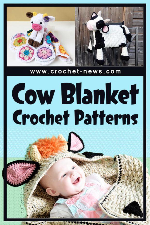 CROCHET COW BLANKET PATTERNS