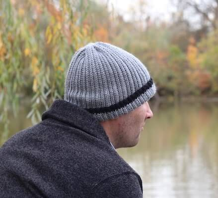 Classic Crochet Beanie for Men Pattern by Rich Textures Crochet