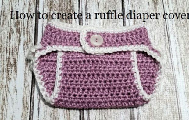 Crochet Shell Stitch Ruffle Diaper Cover Pattern by DidleyDooCrochet