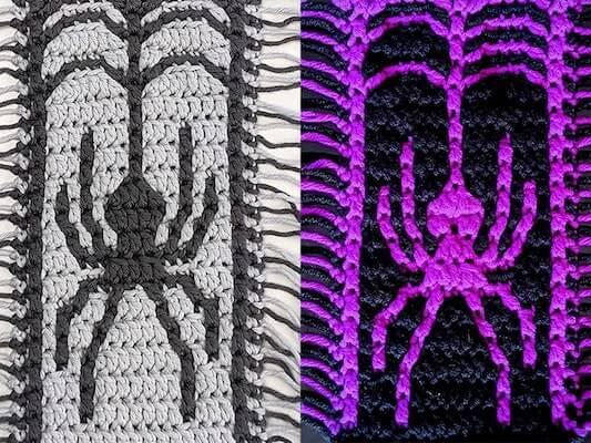 Black Widow Mosaic Crochet Pattern by Sixel Home