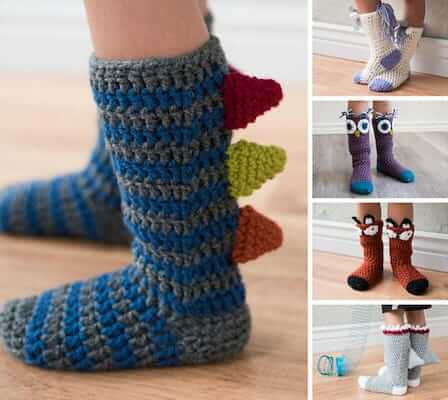 Crochet Animal Socks Pattern by MJs Off The Hook Designs