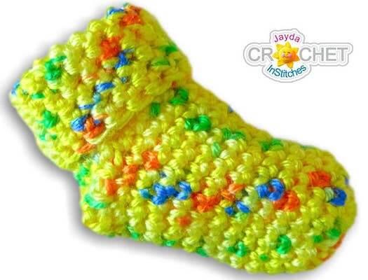 Crochet Baby Socks Pattern by Jayda In Stitches