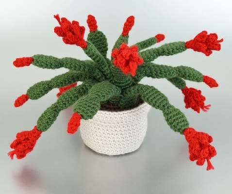 Crochet Christmas Cactus Pattern by Planet June