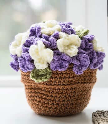Flower Pot Crochet Plants Pattern by Sewrella