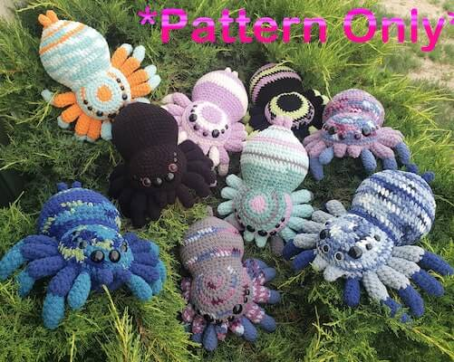 Crochet Huggable Spider Pattern by Hook Master Crochet