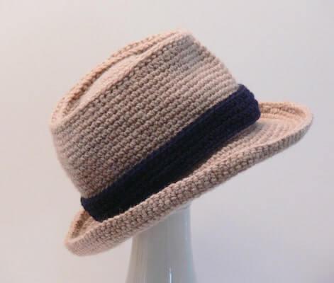 Crochet Men's Fedora Hat Pattern by Meadowvale Studio