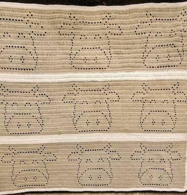 Crochet Moo Cow Blanket Pattern by Mayhem And Majesty