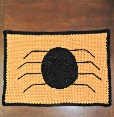 17. Crochet Spider Placemat Pattern by Jessie At Home
